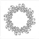 folder do embossingu Square Leaves Wreath Wianek
