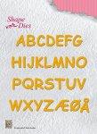 wykrojniki Nellie's Shape Dies alfabet 29 liter