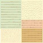 alfabet naklejki 30x30cm Prima Songbird Typeset
