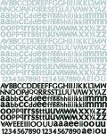 piankowe naklejki z alfabetem Nature's Garden