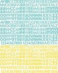 piankowe naklejki z alfabetem Sun Kiss Typeset