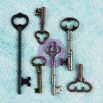 ozdoby Prima Junkyard Findings- Vintage Keys