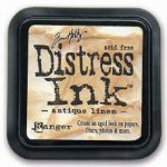 tusz Distress Antique Linen Tim Holtz