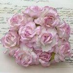 Duże róże jasnoróżowe pęczek 5szt.