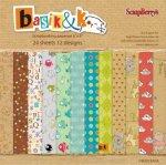 zestaw 24 papierów 15x15 Basik&Ko