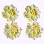kwiatki  kremowe 4 szt. - papier mulberry