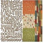 alfabet naklejki 30x30cm Awesome