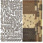 alfabet naklejki 30x30cm Documented