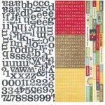 alfabet naklejki 30x30cm Summer Fresh