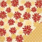 papier dwustronny Deck the Halls - Poinsettia