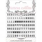 900 literek naklejek alfabet w książeczce White