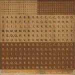 alfabety KaiserCraft 30x30cm Scrabble