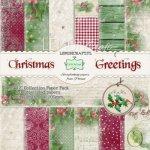 Zestaw papierów - Świąteczne Życzenia