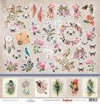 papier jednostronny  Primavera- Cards 1