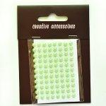 samoprzylepne perełki - 4mm zielone